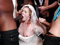 A wedding day turns tohardcore gangbang for hot bride Ella Nova