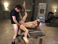 Having hands tied up behind her back busty slut Moka Mora deserves anal