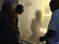 Mature pale whore Kierra Wilde double penetrated by black dicks