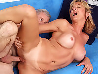 Mature Tart Sky Haven Has Her Pussy Stretched by a Horny Grandpa