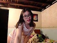 Cute teen in sexy panties solo tease