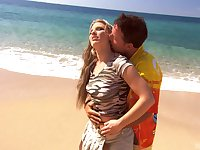 hot Katy Caro adores doggy style after a blowjob at the beach