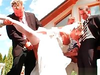 Wedding gir funking