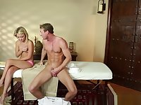 Massage Loving Teen Gagging On Hard Cock