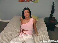 Lewd black head called Bruno B desires to wank and to suck strong cock