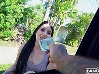 Greedy for money bitch Jessica Jewelz is fucked by bald headed J Mac