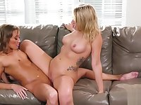 Squirt lesbian Zoey Monroe and Christy Love