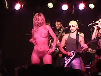 Fit girl Sylvia Diamond with nice fake boobs gets fucked after the show