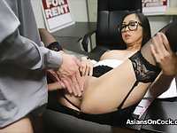 Asian cutie does a lot of extra on job interview