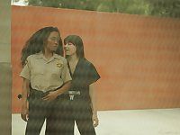 Lesbian sex in the prison with slutty babes Sinn Sage and Kira Noir