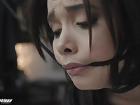 Obedient Aaliyah Hadid in merciless fetish porn