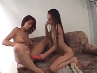 Hot lesbian action with naughty small tits nice ass porn teen hotties