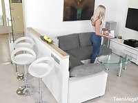 Hidden camera video featuring pretty stepdaughter Angelika Grace playing with herself
