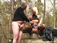 Outdoor fucking in the local woods with natural tits Zdenka a