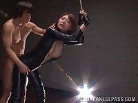 Irresistible Asuka Haruno tied up and fucked by a horny stud