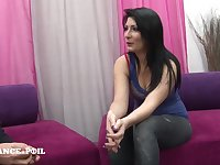 Casting Couch Of A Gorgeous 21 Yo Brunnete