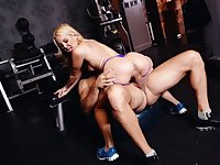 Great hardcore sex play at the gym for Aaliyah Love