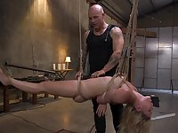 Blonde darling Lisey Sweet tied up and rough ass fucked during torture