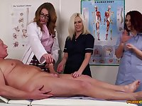 Doctor Anna Joy teaches her students how to suck a large dick