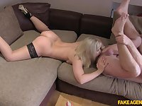 Hardcore fucking during a job interview with mature Karlie Simon
