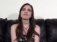 Hot Skinny COED Raven Gets Her Ass Packed And Sucks Dick!