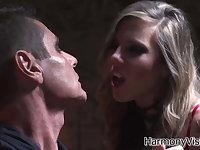 Mistress Yaiza Del Mar punishing her male slave