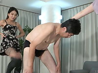 Double Japanese Ballbusting