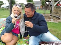 German blonde at outdoor milf sex