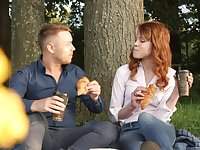 Redhead hottie Mary Solaris gets her hands on a delicious cock