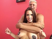 Tattooed chick Scarlet De Sade enjoys riding a large dick in cowgirl
