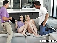 Snooping Dads go for the Coochie - Foursome XXX