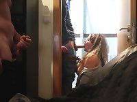 I Caught My Wife Cheating On Me In The Bathroom And I Just Watch - Amateur Cuckold