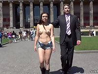 Bare fun bags whore walked in public