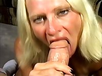 Horny old woman handles the dick like a fucking champion