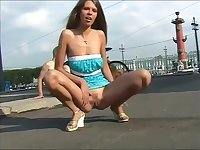 Public flashing teen