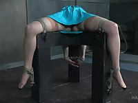 Kinky lesbian torture fetish play with Bonnie Day and London River