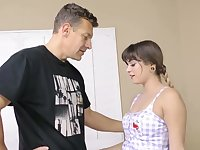 19 yo stepdaughter Pamela Morrison has a quickie with her step daddy