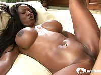 Ebony beauty with a nice bootie gets rammed